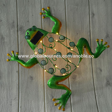 Metal frog, wall decor, garden decor   Global Sources