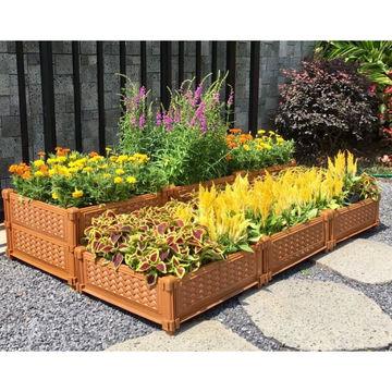 Bon ... China Stackable Planter Extendable Garden Flower Pot Vegetable Raised  Garden Bed ...