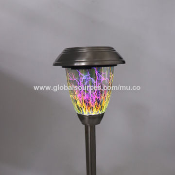 China Solar Metal Led Light Gl Ball Color Changing Path