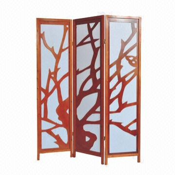 Room DivisionDivider with Solid Wooden Frame and Rice Paper Panel
