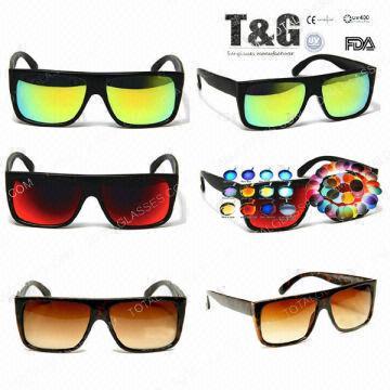 844d4c4162 China Flat Top Super Retro Future Square Tortoise Shell Sunglasses Dark Red  Lens Eyewear