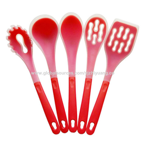Ordinaire China Yangjiang China Silicone 5 Pieces Kitchen Utensils Cookware Set  Cooking Utensils ...