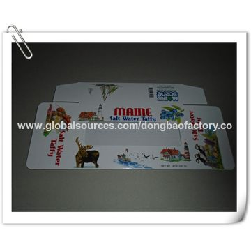 China Die-cut food boxes with PVC window