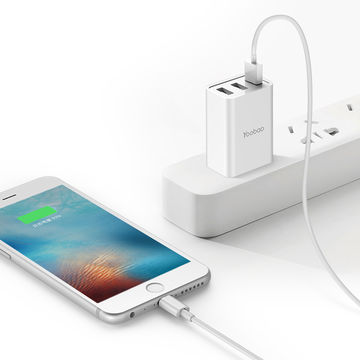 Three USB Ports Convenient Wall Charger for Traveling