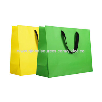 Color printed paper gift bags China Color printed paper gift bags