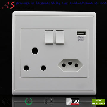 Newest Design South African Standard 16A/250V Wall Power Outlet with ...