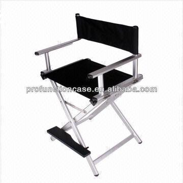 China pro folding director chair aluminum makeup chair-Silver