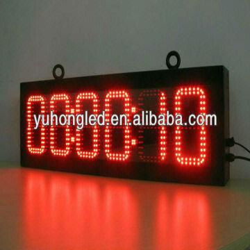 outdoor digital clock with temperature Digit Height: 6'' Time