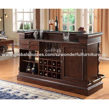 China High Quality Solid Wood Bar Counters Table Wooden Counter