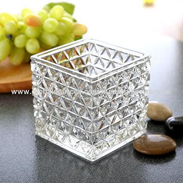 China 4 5 6 Square Glass Vase From Qingdao Wholesaler