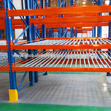 China carton flow rack & flow roller racks from Dalian