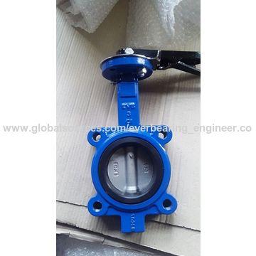 China Cast iron wafer butterfly valve