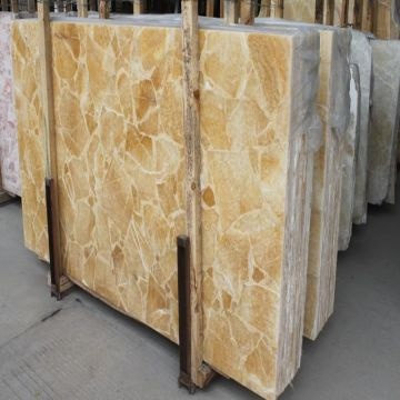 China Rosin Yellow Composite Onyx Floor Tilesyellow Marble Countertop