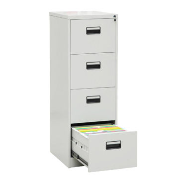 China Office Steel Filing Cabinet 4 Drawer
