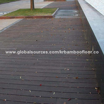 Chinese Bamboo Factory Supplied Bamboo Decking with Dark