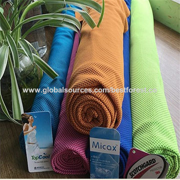China Two tone honeycomb cooling quick dry fabric for towel