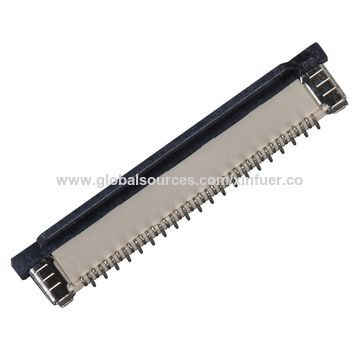 China 0.5mm Pitch FPC Connector, Vertical SMT Type, 2.0mm Height