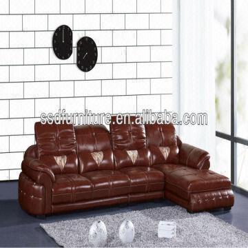 Latest L Shape Modern Dark Red Color, Dark Red Color Leather Sofa