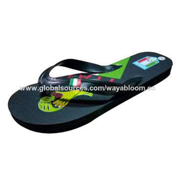 f59e19b83289d China Custom printing color soft sole flip-flop sandals for women ...
