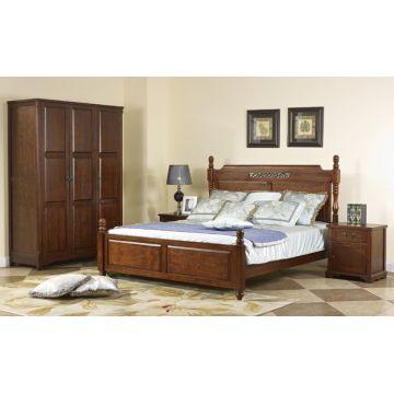 King Size Headboard Espresso Bedroom Furniture Bed