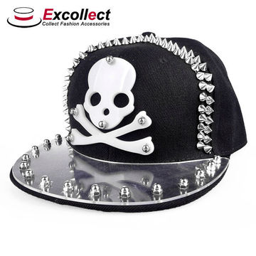 21d3feb1237 China Custom Skull Caps Snapback Hat Acrylic Letters 3d