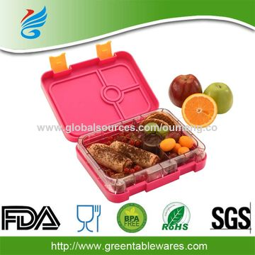 e6cd5bc0a1d3 Wholesale BPA Free Plastic 4-Compartment Food Container Bento Lunch ...