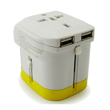 Taiwan Dual 1A USB travel adapter