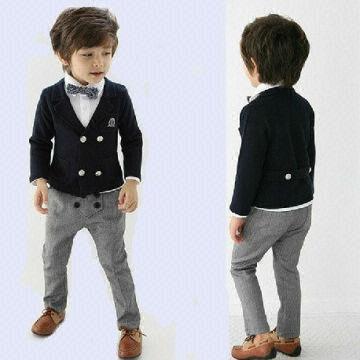 Kids Boys Suit and White Shirt Pants Children English Suit ...