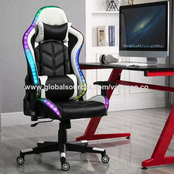 China Led Gaming Pc Chairs High Back Adjustable Office Chairs With Pu Leather With Led Light On Global Sources Gaming Chair