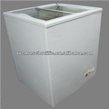 Aucma Chest Freezer Of Sd Serial With Sliding Glass Door For