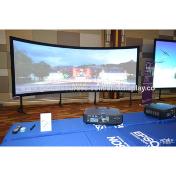 china large format projector screens for single or in