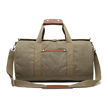 China Canvas Duffel Bag Travel Tote For Men Women Carry On Handbag Shoulder Weekend