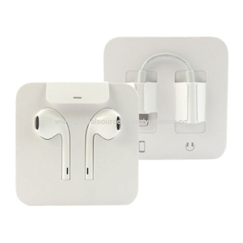ee63a8abb5e China Wholesale Genuine MMTN2ZM/A Earpods with lightning connector for Apple  iPhone 7 ...