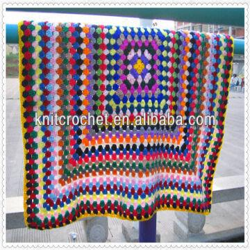 Hand Crochet Baby Blanket Afghan Throw Rugs