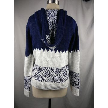 China Ladies knitted long sleeve fashion cardigan
