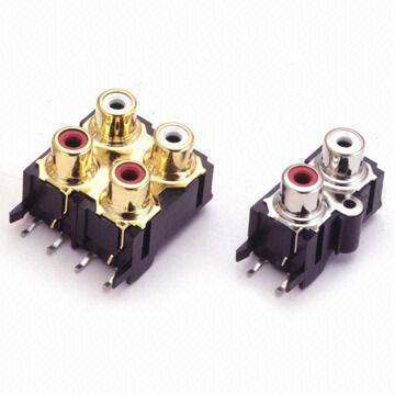 Multiple Hole RCA Connector/Jack with Insulation Resistance of 100Ω