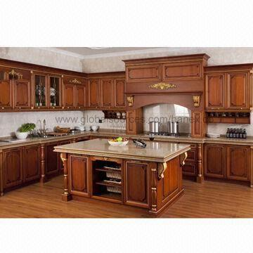 South America Cherry Solid Wood Kitchen, American Kitchen Cabinets Inc