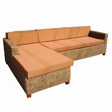 Awesome Sectional Sofa Made Of Water Hyacinth Color By Request Pdpeps Interior Chair Design Pdpepsorg