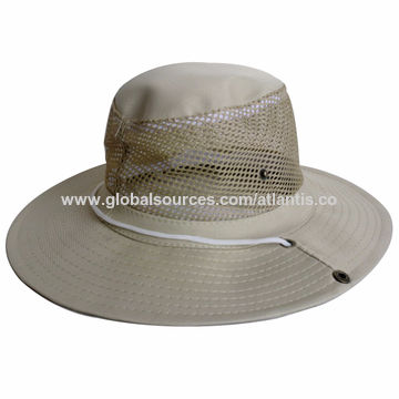 12727ab56cb China Outdoor sun protection wide brim 100% washed cotton fishing ...