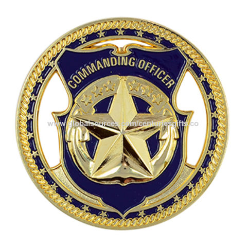 custom gold 3D challenge military coin