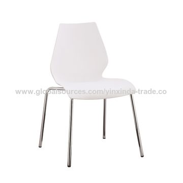 ... China Cheap Price Green Plastic Chairs With Metal Legs ...