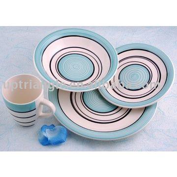 ... China 16pcs Stoneware Hand Painted Dinnerware Sets- Hand  sc 1 st  Global Sources & 16pcs Stoneware Hand Painted Dinnerware Sets- Handpainted Dinner Set ...