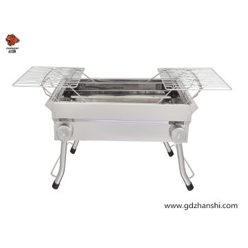 China Stainless Steel Charcoal Bbq Grill With Height Adjule Cooking Grid