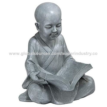 China Bsci Factory Polyresin Buddha Figurine Studying Garden Buddha Statue Outdoor Sculpture On Global Sources Polyresin Buddha Statue Buddha Statue Garden Buddha