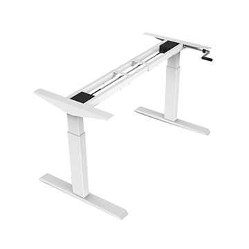 China Office Furniture Manual Crank Handle Standing Height Adjustable Desk  Computer Working Table ...
