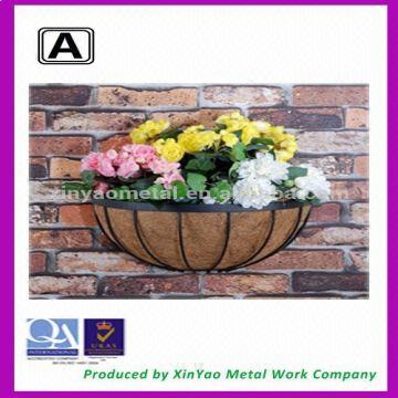 Half Round Planters Metal Wall Planter Wall Gardening Planters And