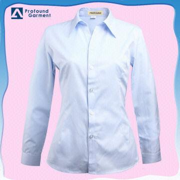 32e78d8438c China 2014 High quality ladies office uniform formal white shirt for women  1