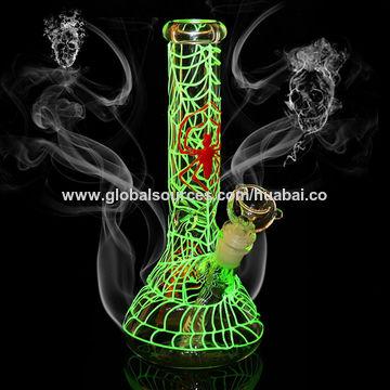 Hookah Smoking Water Pipe, Glow In The Dark Glass Hand Pipes