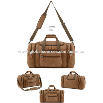 99493615fdd7 ... China Sports Classic Canvas Duffle Bag Weekend Gym Bag Retro Canvas Duffel  Bag ...