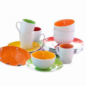 Ceramic Dinnerware Set China Ceramic Dinnerware Set  sc 1 st  Global Sources & Ceramic Dinnerware Set with Two Tone Sesign and Summer Shiny Colors ...